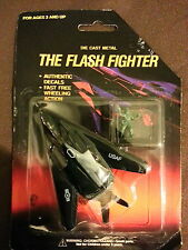 Vintage Die Cast Metal The Flash Fighter JET USAF Military Toy Plane w/ army man