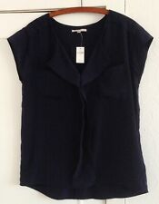 Ladies GAP Navy Short Sleeve Blouse Size Medium - BNWT