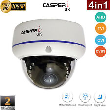 CASPERi CCTV 1080P Dome Camera 2.0MP Hybrid AHD TVI CVI Wide angle Full HD UK