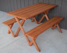 A&L Furniture 5' Amish-Made Cedar Economy Picnic Table, Unfinished or Stained
