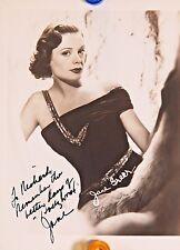 ORIGINAL Autograph  4 x 5 Photo Jane Greer Signature RARE