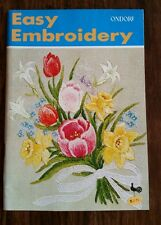 Japanese Embroidery Book Ondori Easy Embroidery First Edition Japan Patterns