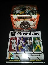 2020 NFL Random Team Hobby Box Mixer Break Chronicles & Legacy 5 AUTOS FREE SHIP