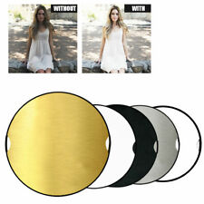 """43"""" 110cm Photography Studio 5 in 1 Multi Photo Disc Collapsible Light Reflector"""