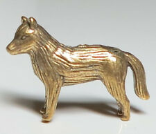 Miniature Figurine Brass Fox Wolf Dog Animal Metalwork Art #35