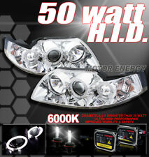 99-04 FORD MUSTANG DUAL HALO PROJECTOR HEADLIGHTS+HID 6K XENON KIT GT SVT COBRA