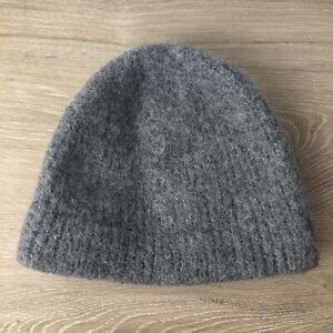 Gray 100% Alpaca Wool Hat Kids Ages 5 - 6 Gray Winter Beanie Unisex Small Child
