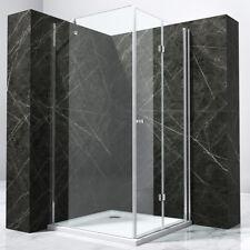 Duschkabine Eckeinstieg Dusche Duschabtrennung 180°Falttür NANO KB7k 90x90x195