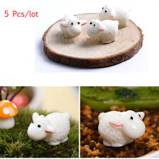 5Pcs/lot Sheep Animals Figurines Miniatures Home Garden Decor DIY Accessories