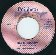 "Vivian Jackson / Yabby You - Fire In Kingston / Dub - Prophets 7"" 45T Rare 1976"