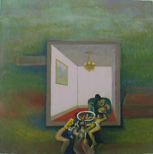 John PICKING (Lancashire 1939) ROOM in A LANDSCAPE Olio su tela cm 50x50 1993