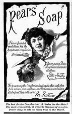 LILLIE LANGTRY ENDORSES PEARS SOAP ANTIQUE 1887 COMPLEXION SOAP ADVERTISEMENT