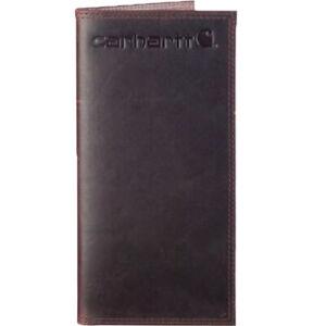 Carhartt Wallet Men's Oil Tan Rodeo Leather Wallets Dark Brown