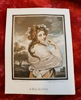 A Bachante - Sir Joshua Reynolds - Vintage Book Print