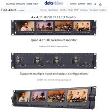 """Datavideo TLM-434H 4.3"""" x 4 HD/SD TFT LCD Monitors"""