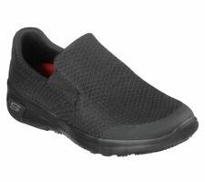 Slip On Resistant Skechers Shoes Women Work Black Memory Foam Flex Comfort 77275
