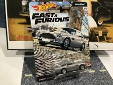 Hot Wheels Fast and Furious Aston Martin Db5 Euro Fast Series / Silver - New