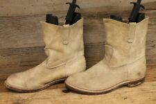 RED WING LEATHER SUEDE BROWN WESTERN/WORK BOOTS SZ 12 E
