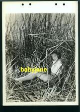 ELLEN DREW VINTAGE 8X11 KEYBOOK PHOTO PINUP IN TALL GRASS PARAMOUNT DOUBLE WEIGH