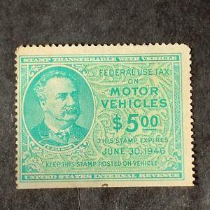 U3/4 US Stamp revenue BOB RV42 $5 Unused HR/ No Gum Fresh See Pictures