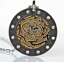 Energy Power Pendant Scalar Quantum Rose Necklace