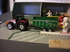 Corgi no Junior Husky Matchbox Farm Tractor Trailer 00? Diorama Railway Slot car
