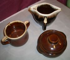 VTG LOT Brown Drip Glaze McCoy Monmouth & Pfaltzgraff Sugar Gravy Boat Bean Pot
