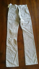 Helmut & Lang Raw Silk denim button fly Men's Jeans Beige sz24 BNWT post D81