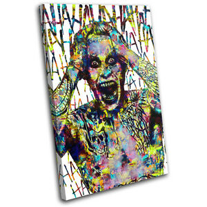 Joker Suicide Squad Movie Greats SINGLE CANVAS WALL ART Picture Print