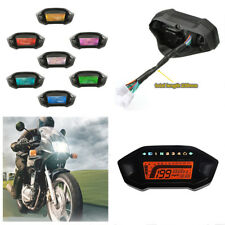 7 Color 12V Motorcycle LCD Digital Speedometer Odometer Tachometer Time Gauge