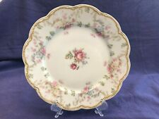 """Haviland Limoges France Hand Painted ROSES 8 1/2"""" Cabinet Plate EUC Millar & Co"""