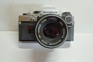 Olympus OM-10 with Manual Adaptor Zuiko 50mm f1.8 and case