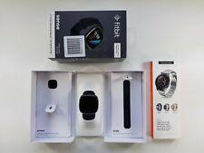 FitBit Sense schwarz + Edelstahl-Armband schwarz in OVP