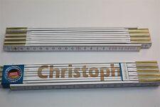 Zollstock mit Namen     CHRISTOPH   Lasergravur 2 Meter Handwerkerqualität
