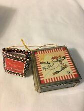 Mary Engelbreit Skiing Snowman Mini Greeting Box Cocoa Mug