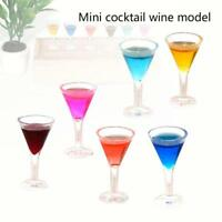 1:12 Dollhouse Mini Triangle Cocktail Miniature Drinking Doll House Decor Fast
