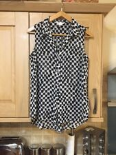 Ladies Checkered  Sleeveless Blouse With Collar By H&M Size 38 (10)