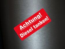 1 x Aufkleber Achtung! Diesel Tanken! Sticker Autoaufkleber Tuning Shocker Fun