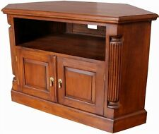 Solid Mahogany Pillar Corner TV Unit with 2 doors Traditional Style NEW CBN062