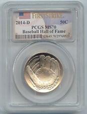 2014-D Baseball Hall of Fame Commemorative Half Dollar MS-70 PCGS First Strike