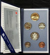 1995 Canada 6 Piece Specimen Set- All BU Coins- In Presentation Case