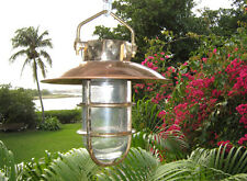 Large Copper Hooded Hanging Hooded Passageway Nautical Marine Light- Large