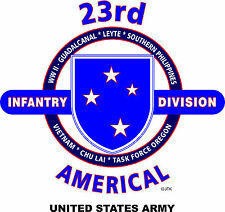 11TH LIGHT INFANTRY BRIGADE & AMERICAL 23RD DIVISION 2-SIDED SHIRT*11TH ON FRONT