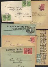 AUSTRIA 1919-20 COLL OF 10 COMM CVR ALL FRANKED W/THE NEW REPUBLIC ISSUE OF 1919