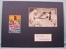 Ronald Reagan - Bedtime for Bonzo signed by Fred de Cordova