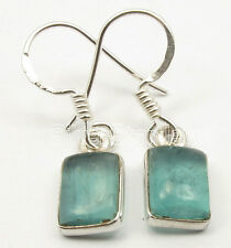 """FASHIONABLE Earrings 1 1/8"""", 925 Sterling Silver CABOCHON APATITE Jewelry"""