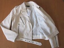 NWT Kendall & Kylie Moto Jacket Winter White Medium Beautiful Lined