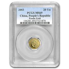 2003 China 1/20 oz Gold Panda MS-69 PCGS