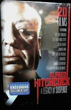 Alfred Hitchcock: A Legacy of Suspense NEW! 4 DVD TIN BOX, 20 FILMS SUSPENSE