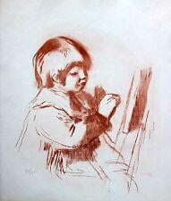 Pierre Auguste Renoir Lithograph Numbered Le Petit Peintre Coco 1900's